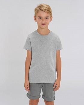 MINI CREATOR dětské tričko s krátkými rukávy ze 100% biobavlny - šedá heather grey
