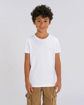 MINI CREATOR dětské tričko s krátkými rukávy ze 100% biobavlny - bílá