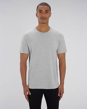 CREATOR Unisex tričko s krátkým rukávem ze 100% biobavlny - světle šedá heather grey