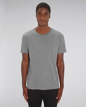CREATOR Unisex tričko s krátkým rukávem ze 100% biobavlny - světle šedá mid heather grey