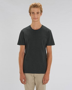 CREATOR Unisex tričko s krátkým rukávem ze 100% biobavlny - tmavě šedá dark heather grey