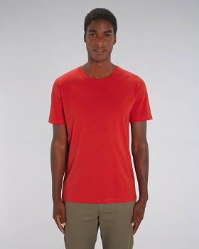 CREATOR Unisex tričko s krátkým rukávem ze 100% biobavlny - červená
