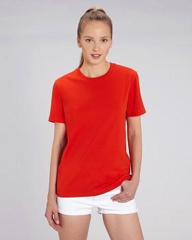 CREATOR Unisex tričko s krátkým rukávem ze 100% biobavlny - červená bright