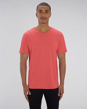 CREATOR Unisex tričko s krátkým rukávem ze 100% biobavlny - červená mid heather red