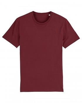 CREATOR Unisex tričko s krátkým rukávem ze 100% biobavlny - fialová burgundy