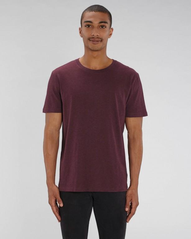 b47888cc5c CREATOR Unisex tričko s krátkým rukávem ze 100% biobavlny - fialová heather  grape red