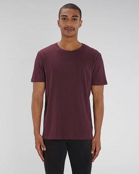 CREATOR Unisex tričko s krátkým rukávem ze 100% biobavlny - fialová heather grape red
