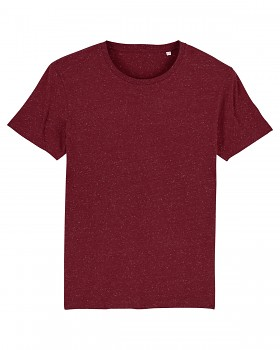 CREATOR Unisex tričko s krátkým rukávem ze 100% biobavlny - fialová dark heather burgundy
