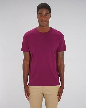 CREATOR Unisex tričko s krátkým rukávem ze 100% biobavlny - fialová LED