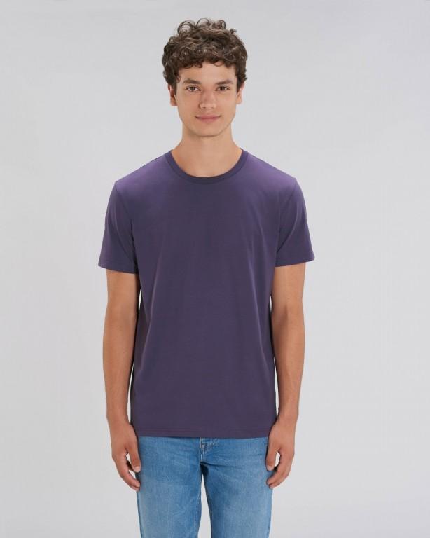 fa1f60b4d3 CREATOR Unisex tričko s krátkým rukávem ze 100% biobavlny - fialová  švestková