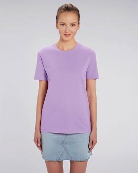CREATOR Unisex tričko s krátkým rukávem ze 100% biobavlny - fialová levandulová