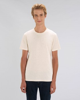 CREATOR Unisex tričko s krátkým rukávem ze 100% biobavlny - růžová ecru nappy mandarine