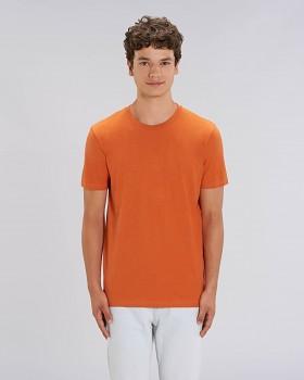 CREATOR Unisex tričko s krátkým rukávem ze 100% biobavlny - oranžová black heather orange