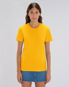 CREATOR Unisex tričko s krátkým rukávem ze 100% biobavlny - žlutá spectra