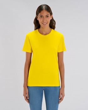 CREATOR Unisex tričko s krátkým rukávem ze 100% biobavlny - žlutá golden