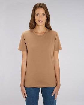 CREATOR Unisex tričko s krátkým rukávem ze 100% biobavlny - hnědá camel
