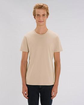 CREATOR Unisex tričko s krátkým rukávem ze 100% biobavlny - hnědá desert dust