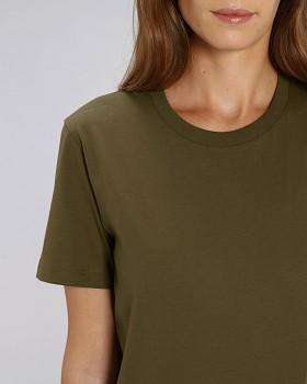 CREATOR Unisex tričko s krátkým rukávem ze 100% biobavlny - british khaki