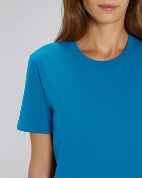 CREATOR Unisex tričko s krátkým rukávem ze 100% biobavlny - modrá azur
