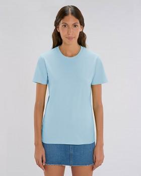CREATOR Unisex tričko s krátkým rukávem ze 100% biobavlny - modrá sky