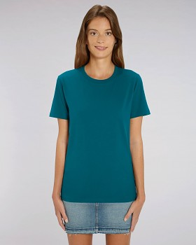 CREATOR Unisex tričko s krátkým rukávem ze 100% biobavlny - modrozelená ocean depth
