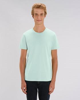 CREATOR Unisex tričko s krátkým rukávem ze 100% biobavlny - modrá carribean