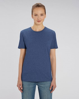 CREATOR Unisex tričko s krátkým rukávem ze 100% biobavlny - modrá dark heather indigo