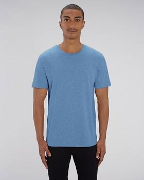 CREATOR Unisex tričko s krátkým rukávem ze 100% biobavlny - modrá mid heather blue