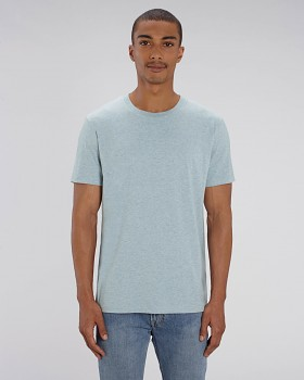 CREATOR Unisex tričko s krátkým rukávem ze 100% biobavlny - modrá heather ice blue