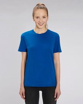 CREATOR Unisex tričko s krátkým rukávem ze 100% biobavlny - modrá mid heather royal blue