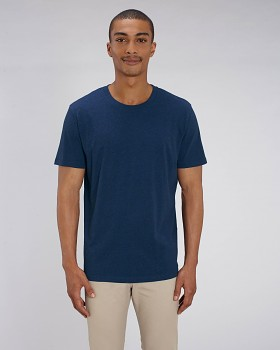 CREATOR Unisex tričko s krátkým rukávem ze 100% biobavlny - modrá black heather blue