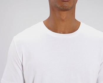 CREATOR Unisex tričko s krátkým rukávem ze 100% biobavlny - bílá