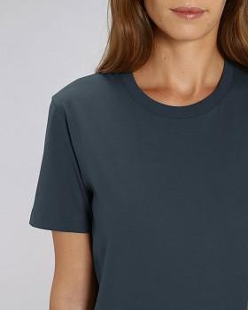 CREATOR Unisex tričko s krátkým rukávem ze 100% biobavlny - tmavě modrá india ink grey