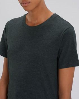 CREATOR Unisex tričko s krátkým rukávem ze 100% biobavlny - tmavě šedá heather black denim