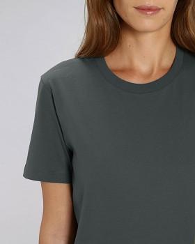 CREATOR Unisex tričko s krátkým rukávem ze 100% biobavlny - tmavě šedá antracit
