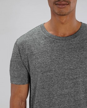 CREATOR Unisex tričko s krátkým rukávem ze 100% biobavlny - šedá slub heather steel grey