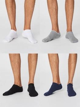 """NOSHOW Pánské  """"neviditelné"""" bambusové ponožky - různé barvy"""