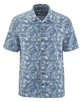 PALM pánská košile z konopí a biobavlny - modrá blueberry