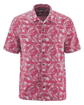 PALM pánská košile z konopí a biobavlny - červená sangria
