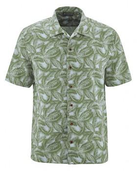 PALM pánská košile z konopí a biobavlny - zelená herb