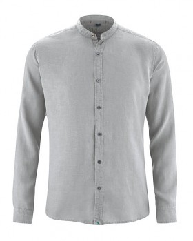 BAND pánská košile ze 100% konopí - šedá quartz