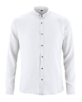 BAND pánská košile ze 100% konopí - bílá přírodní