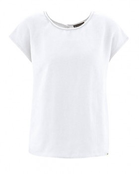 SPITZ dámský top s krátkými rukávy ze 100% konopí - bílá