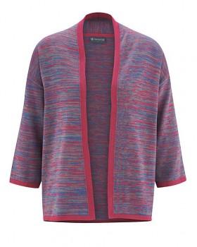 OPTIQUE  dámský svetr z biobavlny a konopí - červená sangria