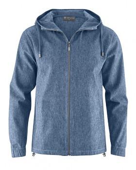 MELIEK pánská bunda z konopí a biobavlny - modrá indigo