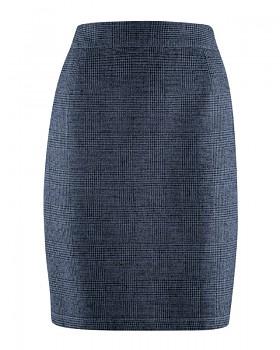 ROCK dámská sukně z konopí a biobavlny - tmavě modrá wintersky