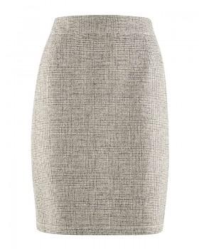 ROCK dámská sukně z konopí a biobavlny - světle šedá nature