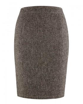 ROCK dámská sukně z konopí a biobavlny - hnědá melange