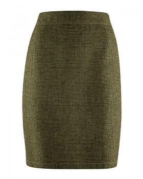 ROCK dámská sukně z konopí a biobavlny - zelená peat