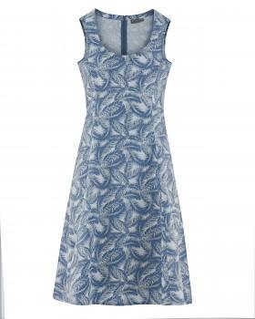 PALM Dámské šaty z konopí a biobavlny - modrá borůvková